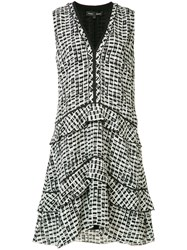 Proenza Schouler Plaid Print Dress White