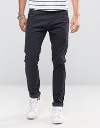 Solid Skinny Fit Chinos With Stretch Black
