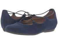 Essen Earthies Navy Suede Women's Flat Shoes Blue