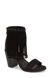 Women's Very Volatile 'Lux Fringe' Sandal Black Faux Leather