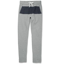 Tomas Maier Colour Block Cotton Sweatpants Gray