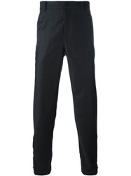 Lanvin Tailored Straight Fit Trousers Black
