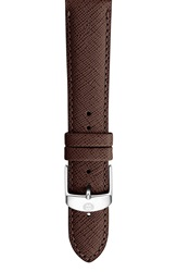 Michele 18Mm Leather Watch Strap Brown