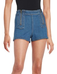 Free People High Waist Jean Shorts Blue