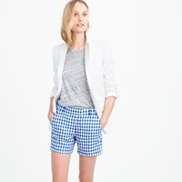 J.Crew Lightweight Short In Gingham Linen