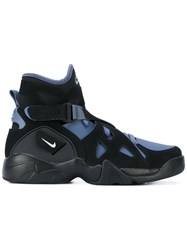 Nike Air Unlimited Retro Sneakers Men Suede Polyamide Rubber 13 Black