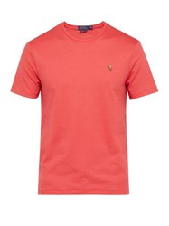 Polo Ralph Lauren Logo Embroidered Cotton Jersey T Shirt Red
