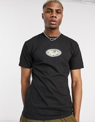Huf Leopard Logo T Shirt In Black