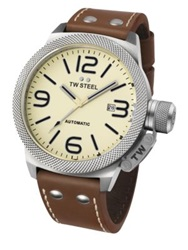 Tw Steel Canteen Automatic Stainless Steel Watch Tan