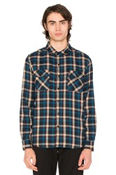 Huf Taylor Flannel Button Down Blue