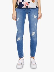 Ted Baker Kimmle Ripped Skinny Jeans Blue Mid