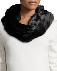 Hat Attack Faux Fur Infinity Scarf Black
