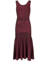 Ginger And Smart Tincture Metallic Knit Dress Red