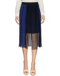 Boutique De La Femme 3 4 Length Skirts Dark Blue