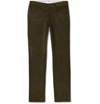Anderson And Sheppard Slim Fit Cotton Corduroy Trousers Green