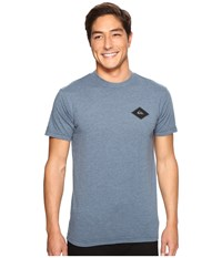 Quiksilver Diamond Days Tee Indian Teal Heather Men's T Shirt Blue