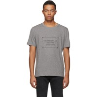 Saint Laurent Grey 'I'm Brutally In Love With You' T Shirt