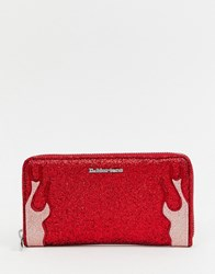 Dr. Martens Dr Red Glitter Flames Purse
