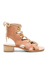 See By Chloe Lace Up Sandal Tan