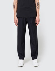 3.1 Phillip Lim Classic Tapered Trouser With Elastic Waist Stripe Navy