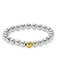 Aqua Sterling Silver Beaded Stretch Bracelet 100 Exclusive Silver Gold