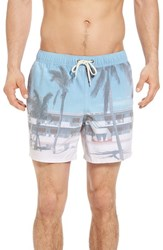 Original Paperbacks Men's Waikiki Motel Swim Trunks White