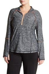Z By Zella Fast Pace Half Zip Pullover Plus Size Black