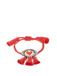 Shourouk Hippie Heart Bracelet Red
