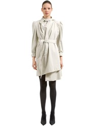 Balenciaga Pulled Feminine Canvas Trench Coat Beige