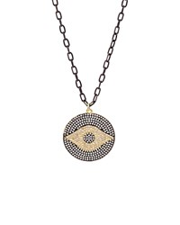 Aqua Long Eye Pendant Necklace 20 100 Exclusive Black