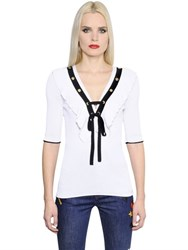 Sonia Rykiel Ruffled Cotton Jersey T Shirt