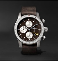 Bremont Boeing 100 Automatic Chronometer 43Mm Titanium And Leather Watch Brown