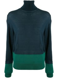 Y's Turtle Neck Sweater Blue
