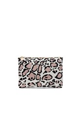 Clare V. Hair On Flat Clutch Beige