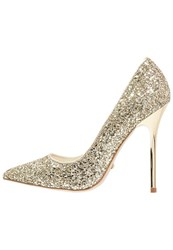Buffalo High Heels Glitter Gold