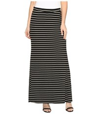 Karen Kane Side Slit Maxi Skirt Stripe Women's Skirt Multi
