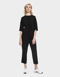 Which We Want Krista Tied Jersey Jumpsuit Black