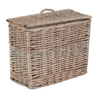 Amara Rectangular Toilet Tidy Lidded Basket