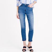 J.Crew Lookout High Rise Crop Jean With Let Out Hem In Hayton Wash