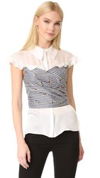 Pamplemousse Anthe Top White Checkered