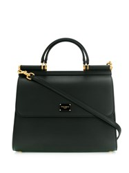 Dolce And Gabbana Large Sicily Tote Black