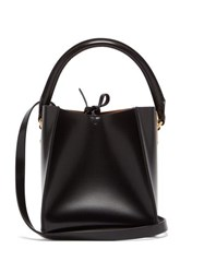 Sophie Hulme Nano Albion Cube Leather Bucket Bag Black