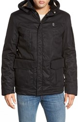 Men's Hoodlamb '4 20' Water Resistant Hemp And Organic Cotton Jacket With Faux Fur Lining