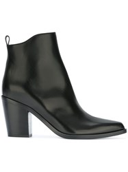 Sartore Pointed Toe Ankle Boots Black