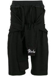 Ktz Tied Waist Sweat Shorts Black