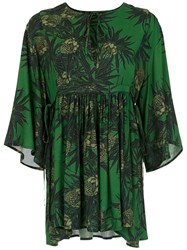 Andrea Marques Printed Blouse Green
