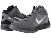 Nike The Air Overplay Ix Nbk Dark Grey Black Metallic Silver Men's Basketball Shoes Gray