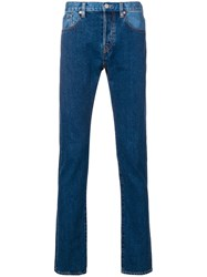 Paul Smith Ps By Patchwork Straight Leg Jeans Blue