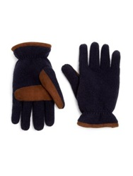 Jack Spade Knit Ski Gloves Grey Navy