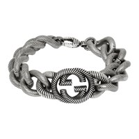 Gucci Silver Interlocking G Bracelet
